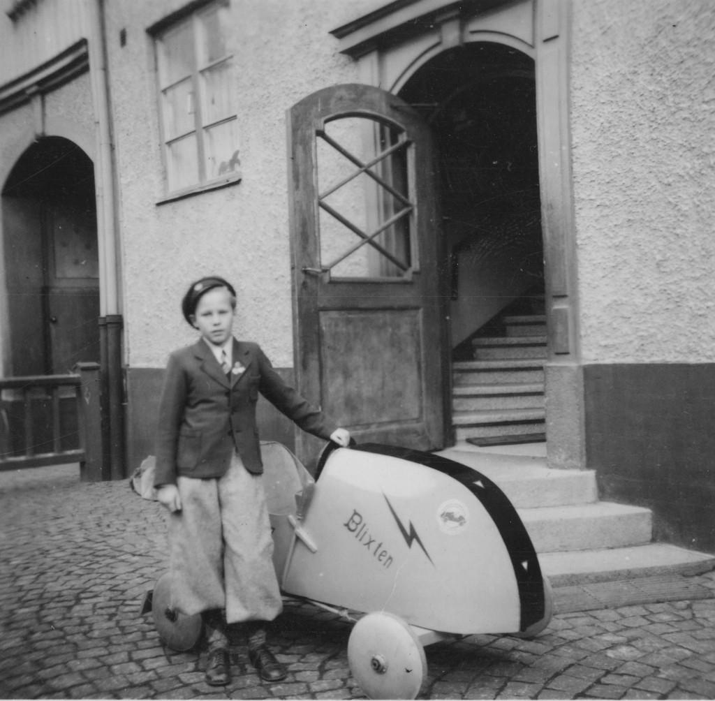 Här är Lennart Tolges bil konstruerad av Helmer Petterson - far till Pelle Petterson. Bild: Lennart Tolge